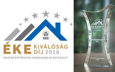 ÉKE kiválóság díjat kapott az Éberhardt Ház Kft.